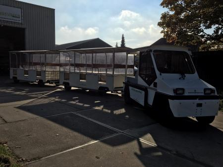 Elektrische trein voor de industrie trein en springkussenverhuur